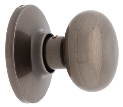 Nickel Watson Single (MaxGrade 400WAT15A Watson Single Dummy Door Knob, Antique)