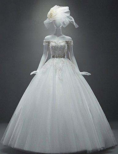 Kurz HS1061 Strassstein Arm Hochzeitskleid Lactraum Brautkleid 1IUqwzP