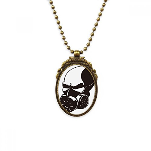 DIYthinker Biochemical Weapon Pollution Gas Mask Antique Brass Necklace Vintage Pendant Jewelry Deluxe Gift
