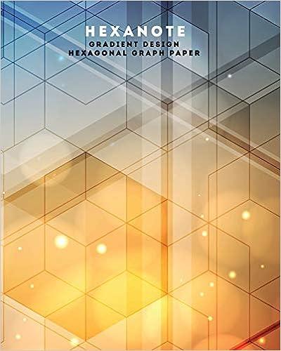 Gradient Design Hexagonal Graph Paper Hexanote