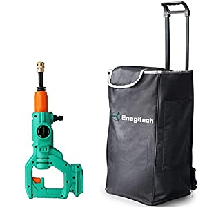 Enegitech 50L Canvas Water Tank and 18V Cordless Pressure Washer for Car Cleaning, Outdoor Equipment Cleaning, Courtyard…