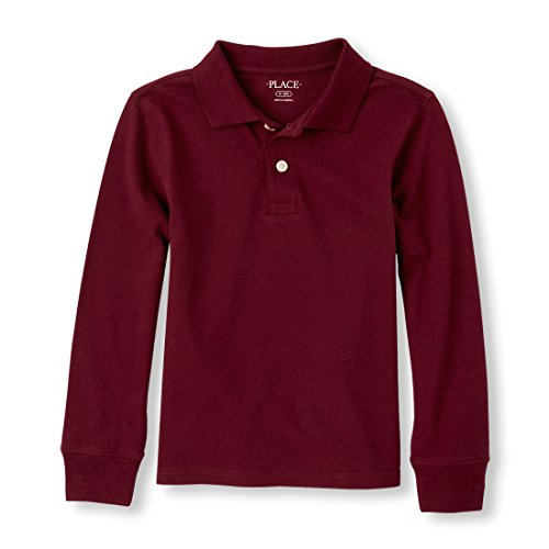 The Children's Place Big Boys' Short Sleeve Solid Polo, Redwood 00604, M (7/8)