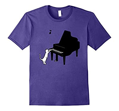 Cute Cat Playing Piano T-Shirt Funny Musician Art Gift