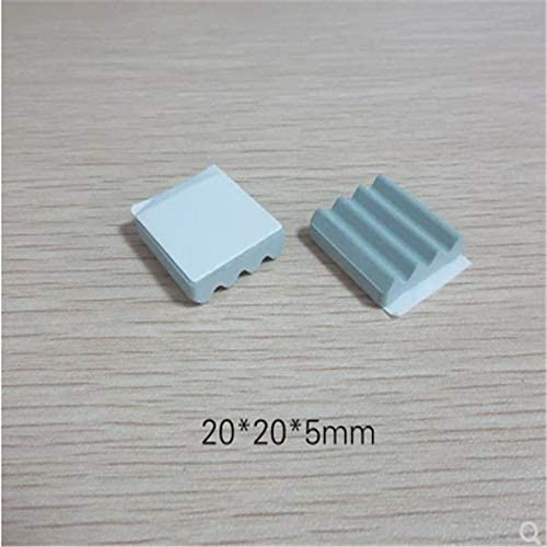 DN: 20x20x2.5mm Adhesive Laliva TV set-top box heat sink Insulation ceramic sheet silicon carbide ceramic sheet 2020 plane corrugated dot point