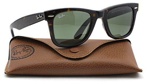Ray-Ban RB2140 Original Wayfarer Unisex Sunglasses (Tortoise Frame / Green Lens 902, - Ray Glasses Original Ban
