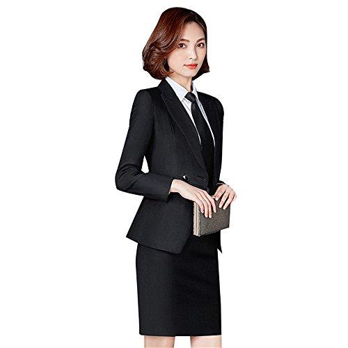 六貪欲努力スーツ レディース セットースーツ スカートスーツセット ダブルボダン ジャケット+スカート 2点セットアップ オフィス 就職 通勤 ビジネス 事務服 フォーマルスーツ 着心地抜群 通気性良い スリム 高品質