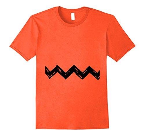 Great Halloween Minute Costumes Last (Mens Charlie Zig Zag Shirt Last Minute Halloween Costume Shirt 2XL)