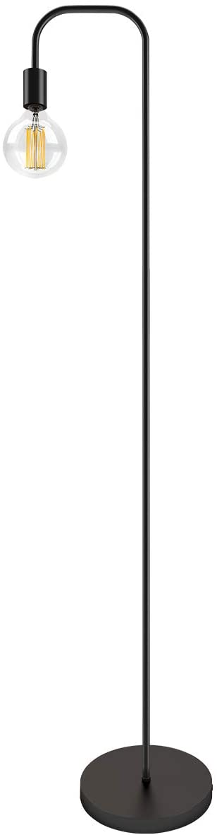 Oneach Industrial LED Floor Lamp for Living Room Bedroom Reading Office Metal Minimalist Standing Lamp UL Certified Black