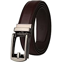 Belts for men,Dante men's Ratchet Click Dress Belt with Genuine Leather,Trim to Fit