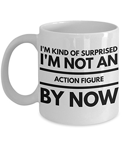 Action Figure Coffee Mug 11Oz - Funny Toy Pop Funko Collectors Birthday Novelty Gift For Men Women Coworker Colleague - I'm Kind of Suprised I'm Not an Action Figure By Now]()