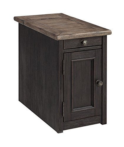 (Ashley Furniture Signature Design T736-7 Tyler Creek Chair Side End Table Grayish Brown/Black)