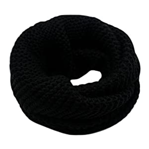 CC-US Women Winter Infinity Scarf Knit Neckerchief Warm Circle Loop Shawl