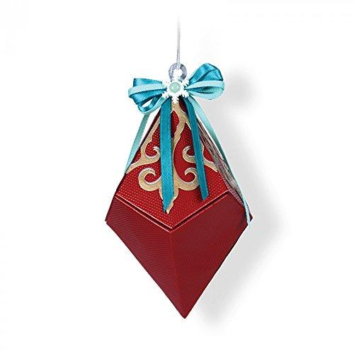 Diamond Set Snowflake - Sizzix 661554 Thinlits Die Set, Snowflake Diamond Box by Lindsey Serata (6-Pack)