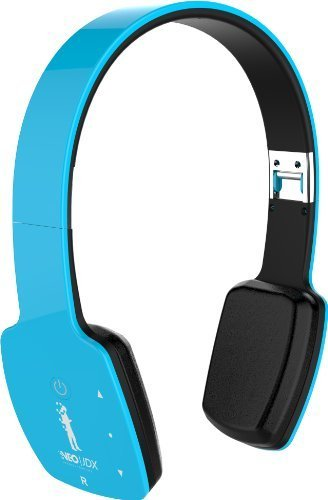 Price comparison product image NeoJDX Milan II - Wireless Bluetooth Stereo Headphones with Built-In Microphone - Connects to 2 Devices - Blue