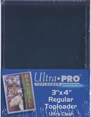 with Black Border x 25 pack TOP-LOADER TRADING CARD HOLDER 3 x 4 inch