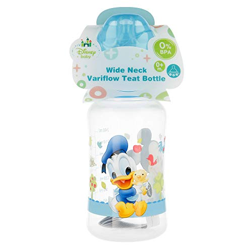 Stor st-39802–Babyflasche weithals 240ml Sauger Silikon 3Positionen, Motiv Mickey