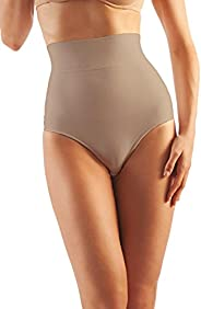 Farmacell Shape Cotton 610 High-Waisted Shaping Control Briefs with Flat Belly Effect