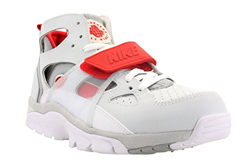Nike Mens Air Trainer Huarache Training Shoes Platinum/Wolf Grey/University Red 679083-017 Size 9.5