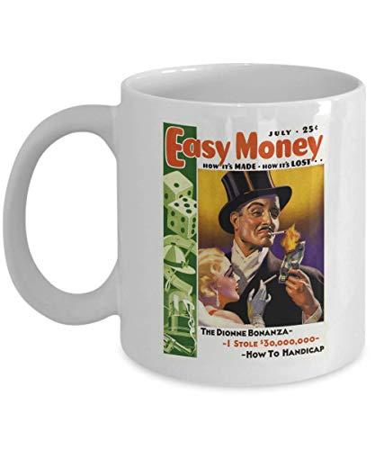 Easy Money with Money to Burn! - 1930s Era Magazine Cover Image: Ceramic Coffee Mug