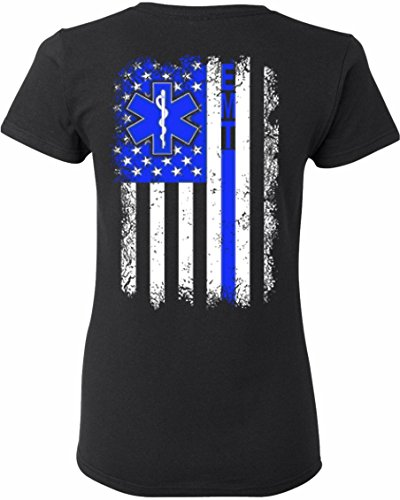 Patriot Apparel Women's EMT Emergency Medical Technician T-Shirt Ladies fit (Medium, - T-shirt Dark Emt