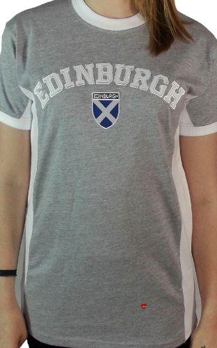 Mesdames Edimbourg n ° 9 T-shirt gris et blanc Marl