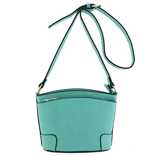 Classic Double Zip Crossbody Bag Mint