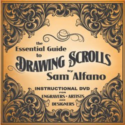 The Essential Guide to Drawing Scrolls for Engravers, Jewelers, Artists and Designers, by Sam Alfano (DVD)