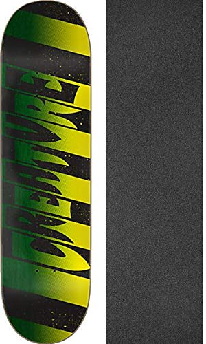 Creature Skateboards Stripes MD Skateboard Deck Bundle of 2 Items 8.6 x 32.11 with Mob Grip Perforated Black Griptape