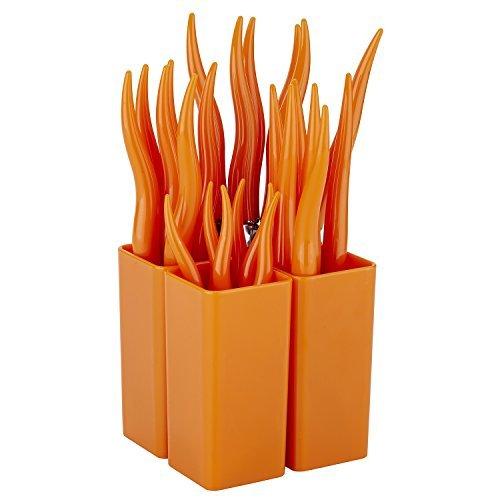 HomeChain 18-0 Stainless Steel Cutlery Fork Silverware Flatware,Orange