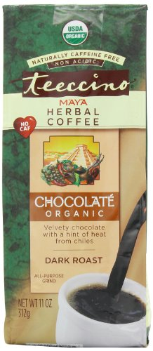 Teeccino Organic Herbal Coffee, Maya Chocolate, Caffeine-Free, 11-Ounce Bags (Pack of 3)