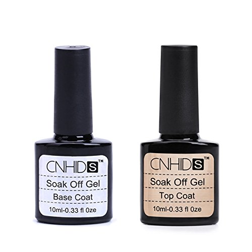 Nail Polish,Babyee Top Coat And Base Coat for Gel Polish 2 pcs Top coat + Base coat Uv Gel Nail Polish Primer Nail Art CNHIDS
