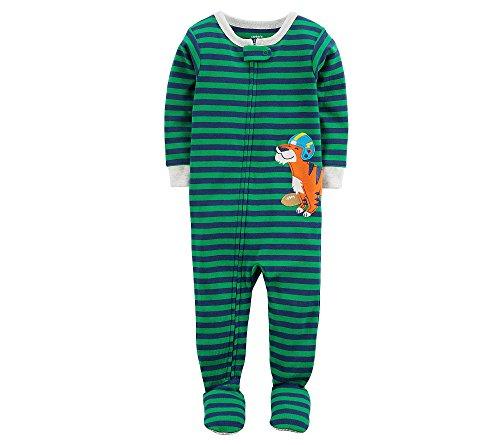 Carter's Boys' 12M-5T One Piece Tiger Striped Pajamas 12 -