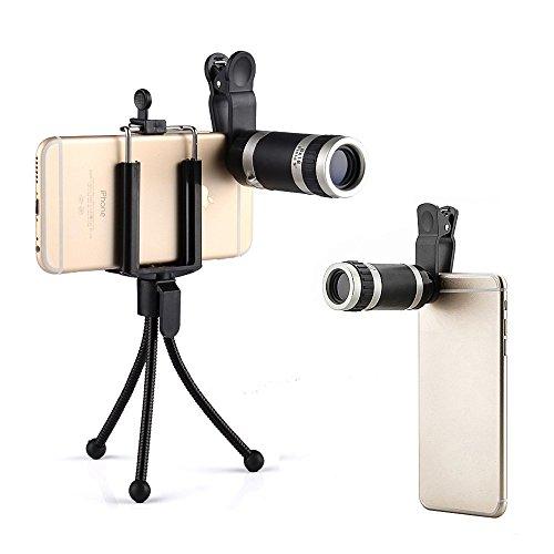 Cheap Lens Supports Phone Camera Lens,Landnics Mini Monocular 8X Phone Lens Clip-On Telescope Kit Mini..