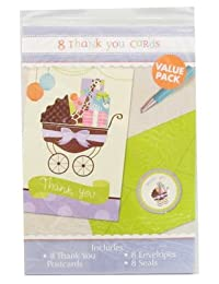 Modern Mommy Thank You Notes (8) Note Cards Baby Shower Animal Print BOBEBE Online Baby Store From New York to Miami and Los Angeles