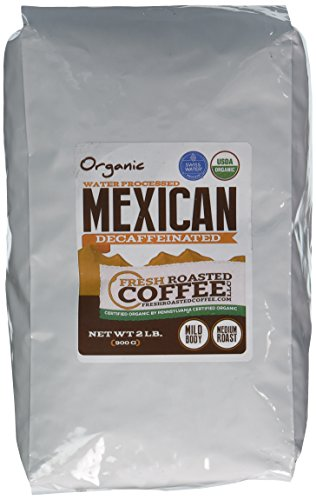 Mexican SWP Decaf Organic Coffee, Whole Bean, Swiss Water Processed Decaf Coffee, Fresh Roasted Coffee LLC. (2 lb.)