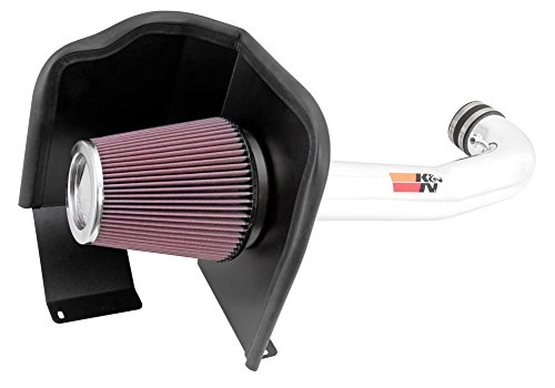 K&N Performance Air Intake Kit 77-3082KP with Polished Metal Tube and Lifetime Red Oiled Filter for Escalade, Silverado 1500, Suburban, Tahoe, Sierra, Yukon, Denali,  XL