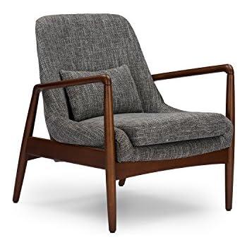 Amazon Com Baxton Studio Velda Modern Accent Chair Brown