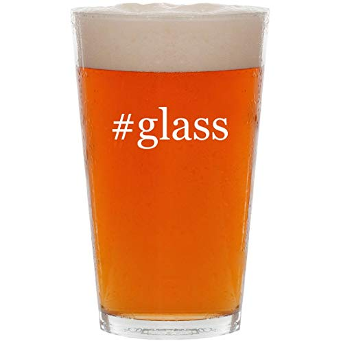 #glass  16oz Hashtag Pint Beer Glass
