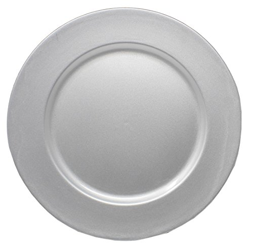 (Ms Lovely Charger Plates - 13 Inch - Set of 6 - Silver)
