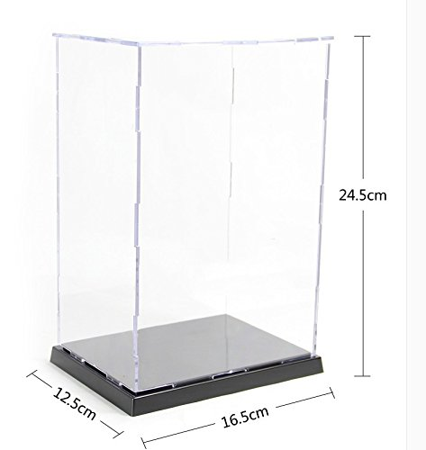 KENGEL 6.5x5x9.5 Inch Assembly Transparent Clear Acrylic Toys Display Dustproof Protection Showcase Case Box ()