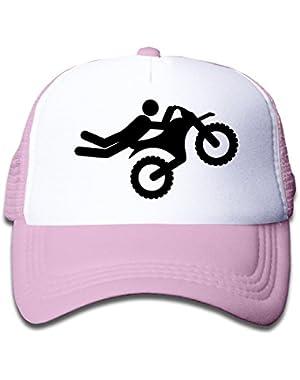 Causal Motocross Children Kids Nylon Adjustable Trucker Cap One Size Fits Most