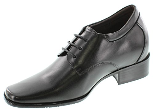 Calden - K5655 - 3,2 Inches Taller - Height Increasing Elevator Shoes (black Dress Shoes)