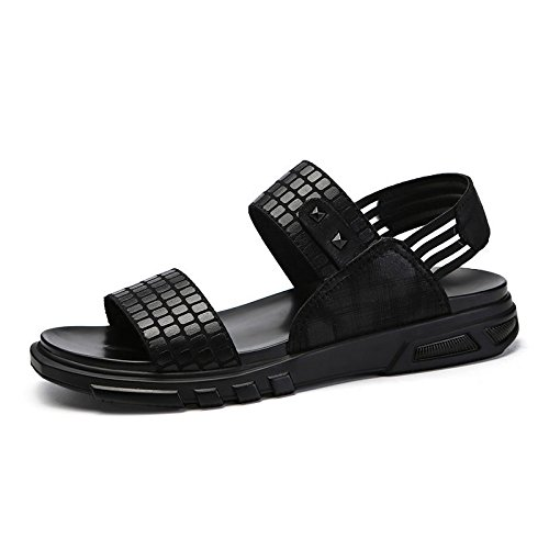 HGTYU Middle School Students Sandals Slippers Comfortable Casual Shoes Black qADMl