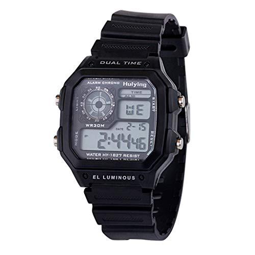 - Classic Sport Watch Illuminator Collection Resin Strap Digital Watch Resin Strap Digital Sport Watch(F)