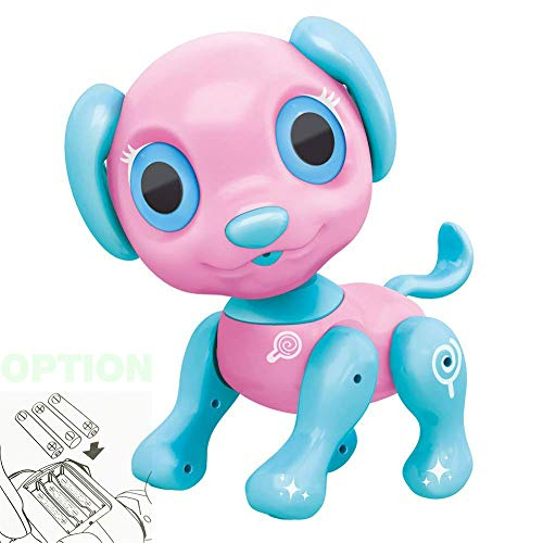 BIRANCO. Electronic Pets Dog Toy - Interactive Puppy Smart Robot Toys for Age 3 4 5 6 7 8 Year Old Girls | Gifts for Kids (Pink Disposable)