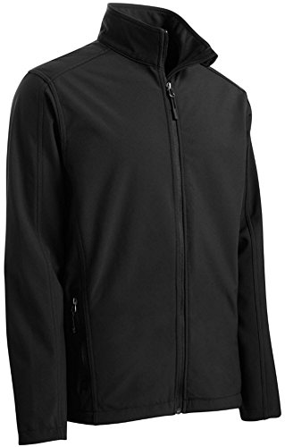 Joe's USA tm Mens Big and Tall Core Soft Shell Jacket-Black-3XL by Joe's USA