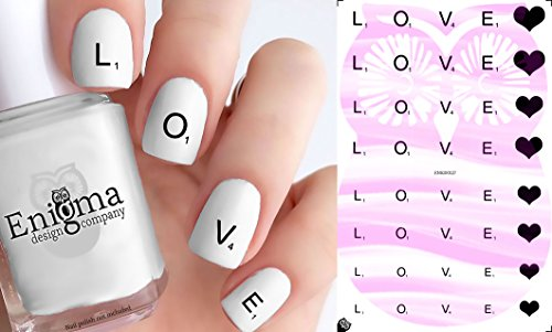 Tile Valentine (Scrabble Valentine's Day Nail Decals - Vol II (Set of 40) (Clear Water-slide))