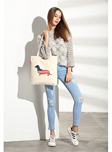 So'each Bolsa de tela y de playa, color natural (beige) - SPA-ODD-UK-19