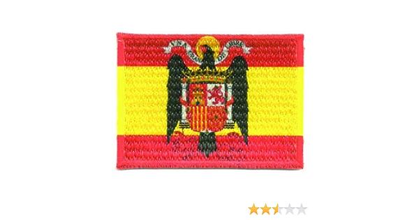 losparches Parche bordado y textil termoadhesivo BANDERA ESPAÑA AGUILA DE SAN JUAN 4cm x 3cm: Amazon.es: Ropa y accesorios