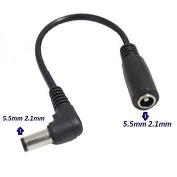 Cable Adaptador Cambia Polaridad Invierte Positiva <> Negativa 5.5mm 2.1mm - Positiva a